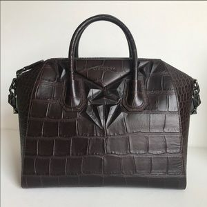 Givenchy Bags - Authentic Givenchy Medium Antigona Croc Embossed